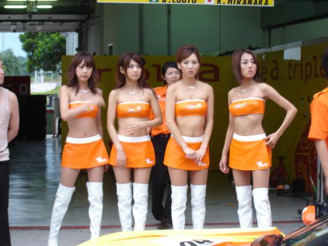 Japanese race queens